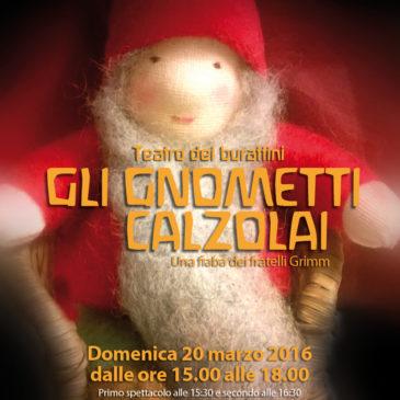 """Teatrino dei burattini """"Gli gnometti calzolai"""""""