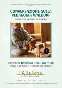 Conversazione sulla Pedagogia Waldorf a cura di Pina Monzani, maestra d'ailo