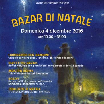 Bazar Natale 2016 – 4 dicembre dalle 10:00 alle 18:00