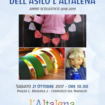 Presentazione l'Altalena a.s. 2018/2019 sabato 21 ottobre ore 10:00