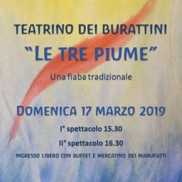 "Teatrino dei burattini ""le tre piume"""
