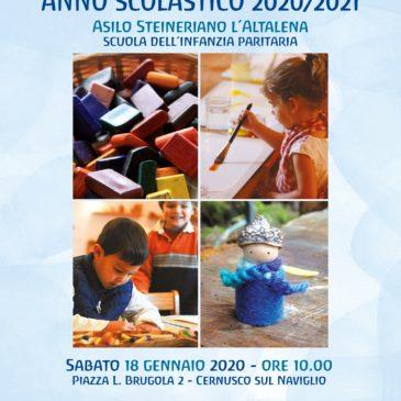 Presentazione a.s. 2020/21 sabato 18 gennaio 2020